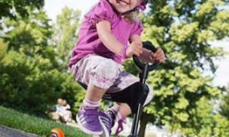 Детский електрический самокат с сиденьем