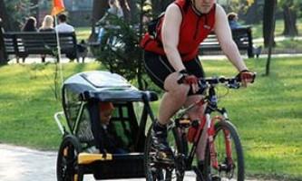 Грузовые прицепы для велосипеда. Ранебаут - велоприцеп для перевозки детей