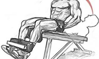 Подъем туловища на наклонной скамье