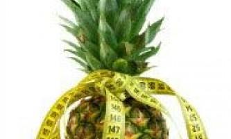 Сбалансированная ананасовая диета для похудения