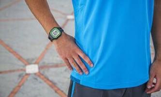 Спортивные часы для бега с шагомером и пульсометром