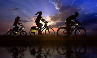 Светоотражатели на одежду велосипедиста