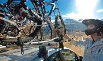 Велобагажник (велокрепление) на крышу автомобиля, на фаркоп, на заднюю дверь, на запасное колесо