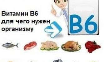 Витамин в6 — для чего нужен организму